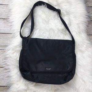 Kate Spade Messenger Diaper Bag Black Nylon